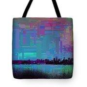 Emerald City Skyline Cubed Tote Bag