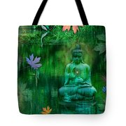 Emerald Crane Tote Bag by Alixandra Mullins