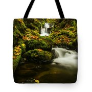 Emerald Falls In Columbia River Gorge Oregon Usa Tote Bag
