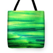 Emerald Flow Abstract I Tote Bag
