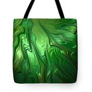 Emerald Flow Tote Bag