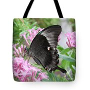 Emerald Peacock Swallowtail Butterfly #5 Tote Bag