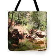 Emerald Pool Reflection Tote Bag