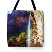 Emerald Pools Trail Waterfall - Zion Tote Bag