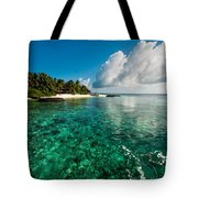Emerald Purity. Kuramathi Resort. Maldives Tote Bag