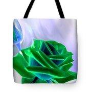 Emerald Rose Watercolor Tote Bag