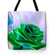Emerald Rose Watercolor Tote Bag