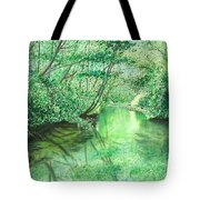 Emerald Stream Tote Bag