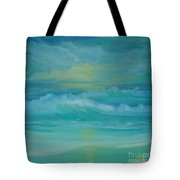 Emerald Waves Tote Bag