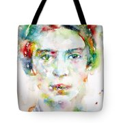 Emily Dickinson - Watercolor Portrait Tote Bag