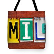 Emily License Plate Name Sign Fun Kid Room Decor Tote Bag