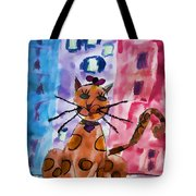Emma's Spotted Kitty Tote Bag