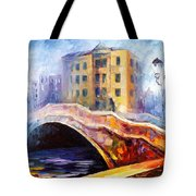 Emotional Autumn - Palette Knife Oil Painting On Canvas By Leonid Afremov Tote Bag