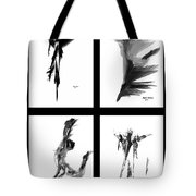 Emotions In Black - Abstract Quad Tote Bag