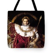 Emperor Napoleon I On His Imperial Throne Tote Bag