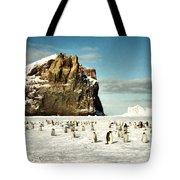 Emperor Penguin Colony Cape Washington Antarctica Tote Bag
