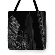 Empire Nyc White On Black Tote Bag