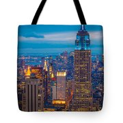 Empire State Blue Night Tote Bag