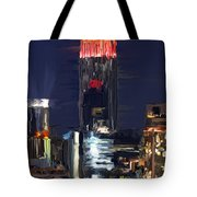 Empire State Buidling On The Water Tote Bag