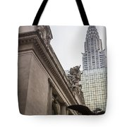 Empire State Building And Grand Central Station Tote Bag by For Ninety One Days