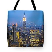 Empire State Building And Midtown Manhattan Tote Bag