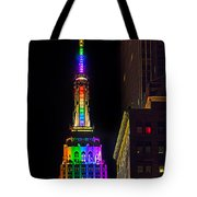 Empire State Building Lit For Gay Pride Tote Bag