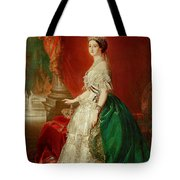 Empress Eugenie Of France 1826-1920 Wife Of Napoleon Bonaparte IIi 1808-73 Oil On Canvas Tote Bag