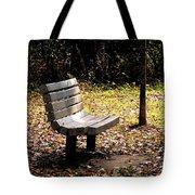 Empty Bench Meditation Spot Tote Bag