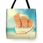 Empty Ice Cream Cones Tote Bag by Amanda Elwell