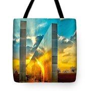 Empty Skies Sunset Tote Bag by Nick Zelinsky