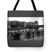 Empty Tables Tote Bag