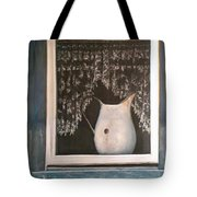 Enamel And Lace Tote Bag