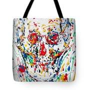 Enamels Skull Painting Tote Bag