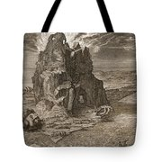 Enceladus Buried Underneath Mount Etna Tote Bag