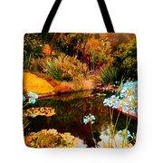 Enchaned Blue Lily Pond Tote Bag