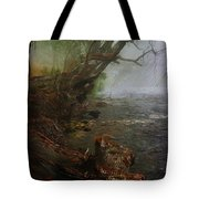 Enchanted River In The Mist Tote Bag
