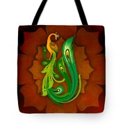 Enchanting Peacock 1 Tote Bag by Bedros Awak