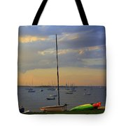 End Of Day At The Bay Tote Bag