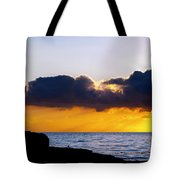 End Of Day On The Pacific Tote Bag