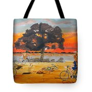 End Of Season Habits Listen With Music Of The Description Box Tote Bag