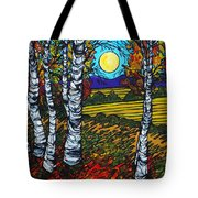End Of Summer Birches Tote Bag