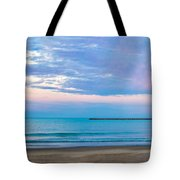 End Of The Blue Hour Tote Bag by Steven Santamour