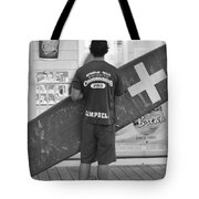 End Of The Day - Black And White Tote Bag