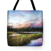 End Of The Day - Landscape Art Tote Bag