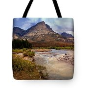End Of The Road Mountain Tote Bag