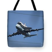 Endeavour Over Moffett Field Tote Bag