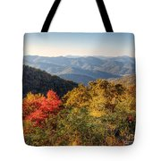 Endless Autumn Mountains Tote Bag