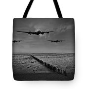 Enemy Coast Ahead Skipper Black And White Version Tote Bag