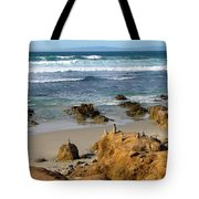 Energizing Seascape At Spanish Bay Tote Bag