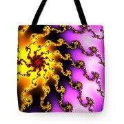 Energy - Yellow Purple And Red Digital Fractal Artwork Tote Bag